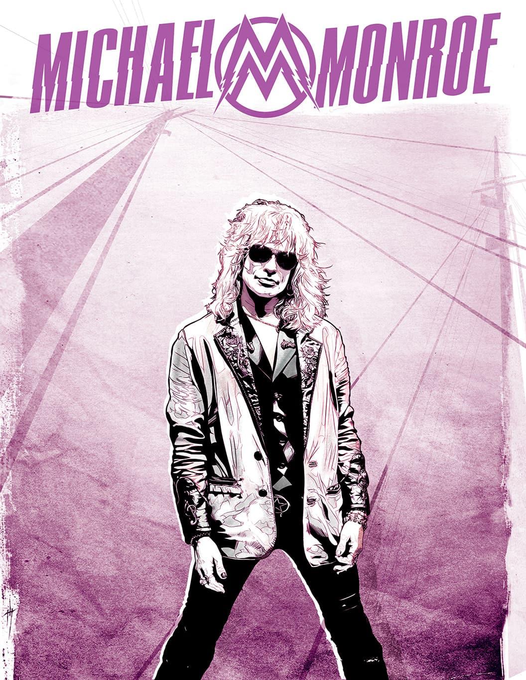 Michael Monroe illustration