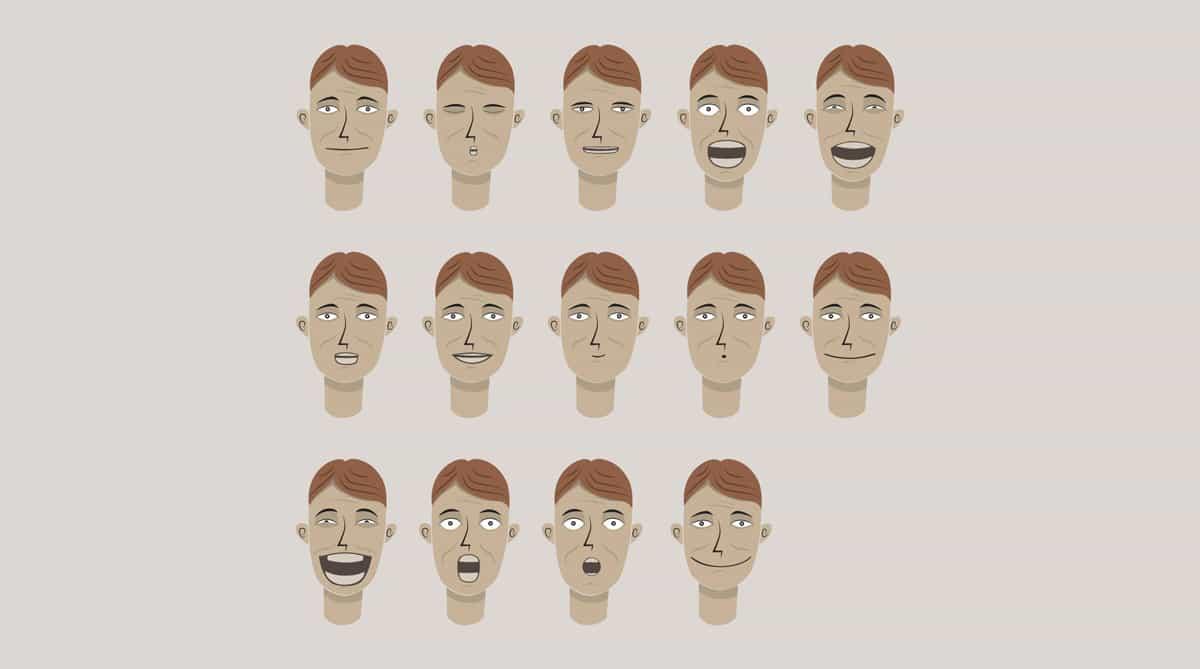 TE-man facial expressions