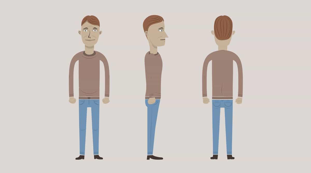 TE-man vector illustrations