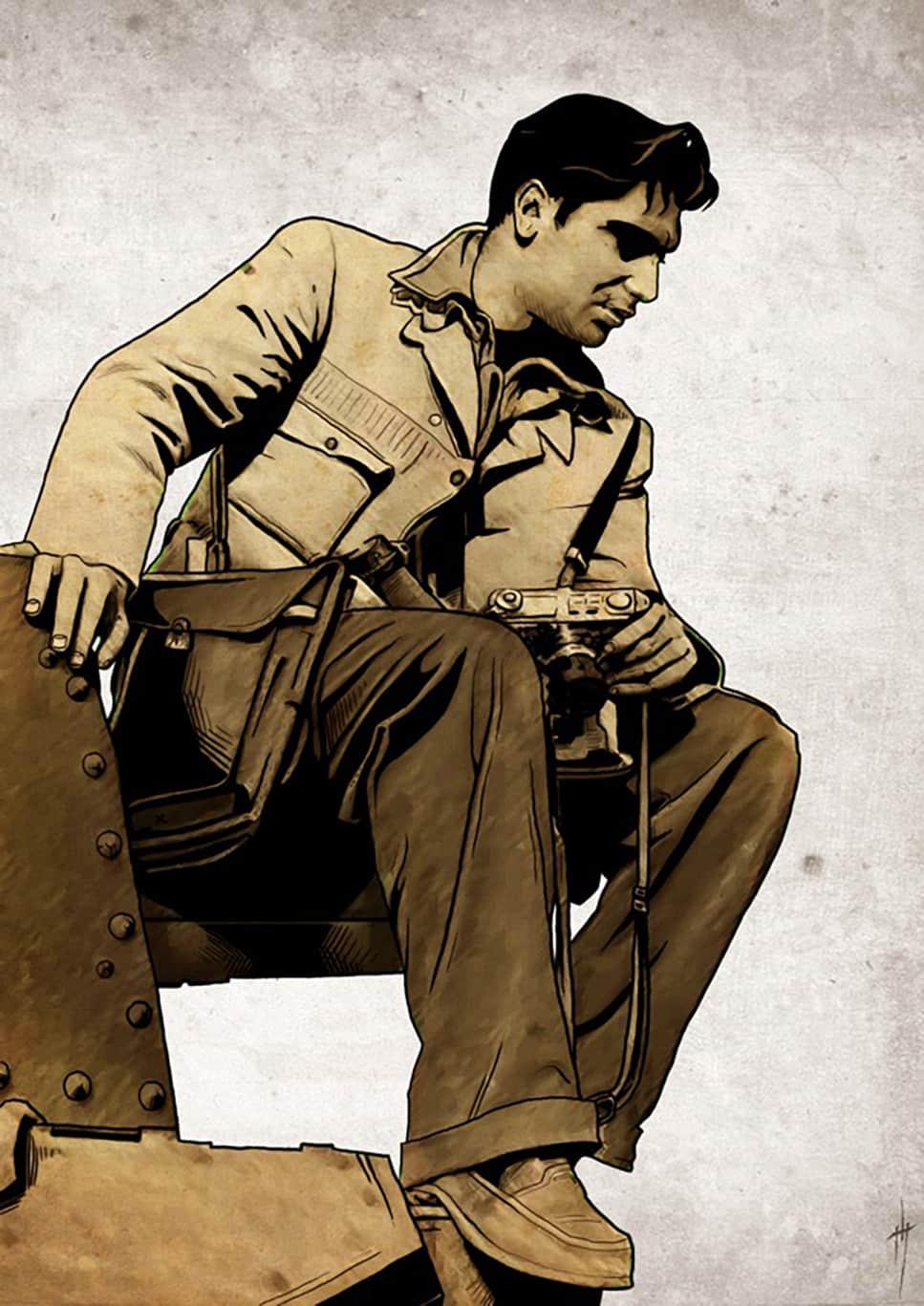 Robert Capa illustration