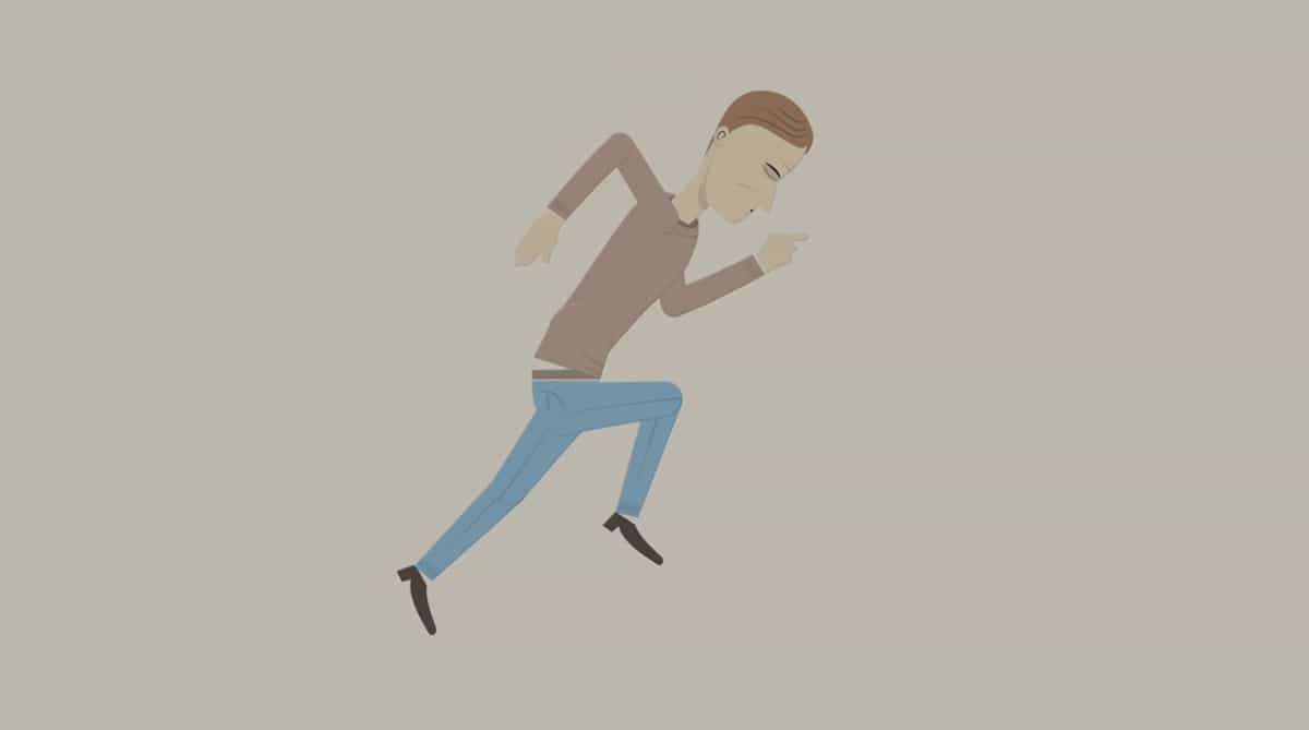 TE-man in a hurry