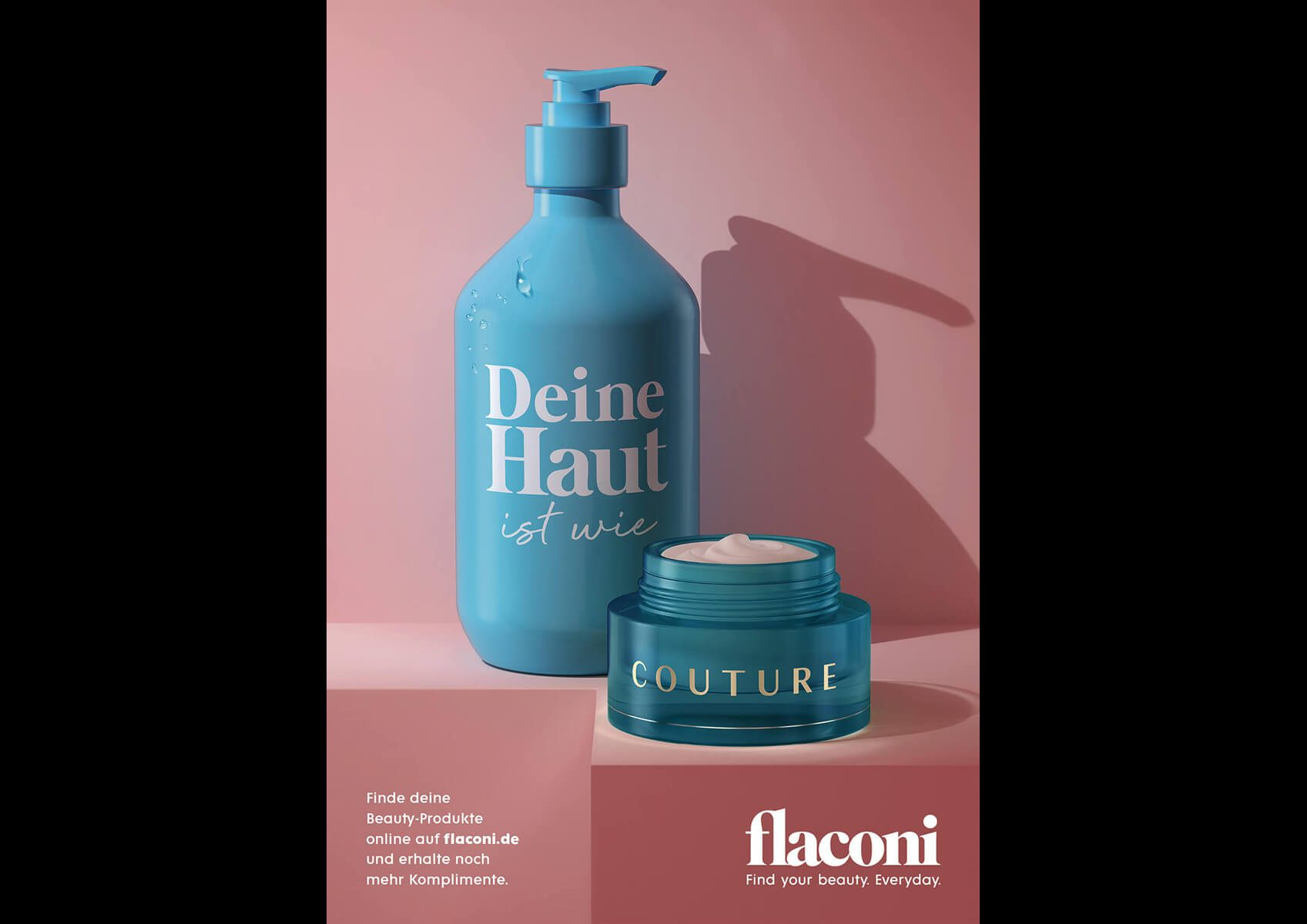 Vanite | Flaconi - OOH-campaign 3D product images & animations